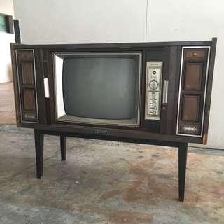 Vintage Antique Sanyo Tv Television