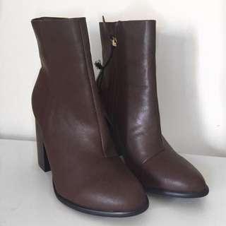 Brown High Shaft Boot