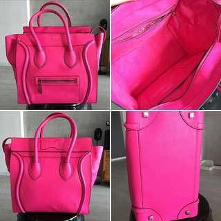 Celine Mini Pink Fluo