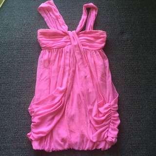 Ladies Lipsy Dress Pink Size 8