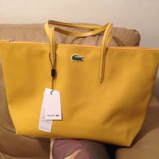 Lacoste Tote Bag Yellow