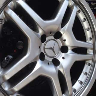 "Original Mercedes 18"" Rims Only"