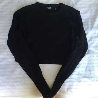 Paperheart Long Sleeve Cropped Top