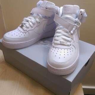 (正品)Nike高筒全白Air Force