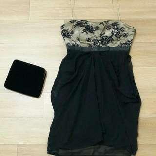 Semi gown Size S LD 80 cm Lingkar di bawah dada 66 cm P 85 cm  Waktu beli Harga 1,5 jt  bisa cek di sogo asli merk FLUORESCENCE