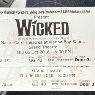 Wicked The Musical(reserved)