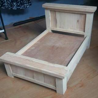 Hand Crafted Country Style Doll Bed