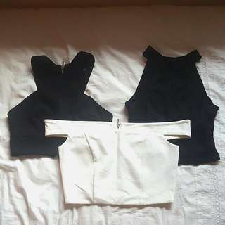Set of 3 Forever New Crop Tops, All Size 6