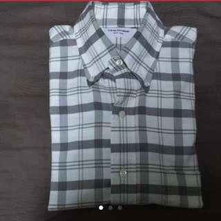 Thom Browne Grey Plaid Shirt