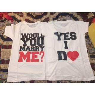 Kaos Couple ( Would You Marry Me?) & ( Yes I Do )
