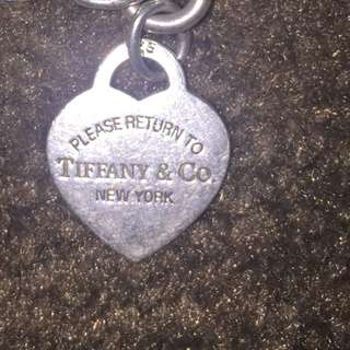 Authentic Tiffany & Co Charm Bracelet With 2 Charms
