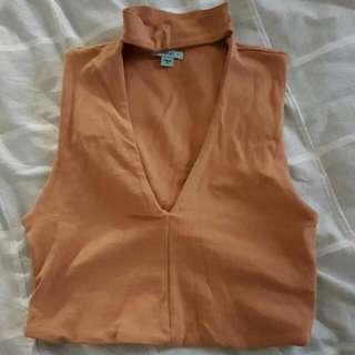 ON HOLD Kookai Size 2 Brown Tan Crop Top