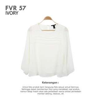 FOREVER 21 - WOMAN TOPS BLOUSE BRANDED IVORY