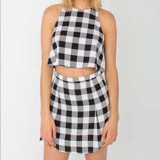 Authentic Brand New With Tags American Apparel Lulu Grid Tartan Set Size Medium