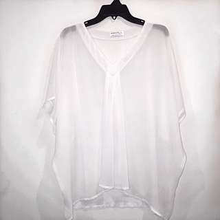 White Sheer Blouse