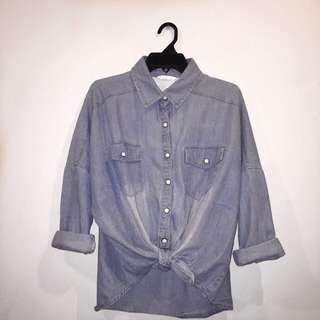 Denim Knot Shirt