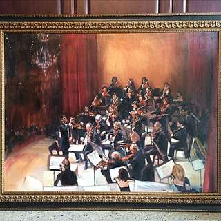Oil Impressionist Orchestra Painting