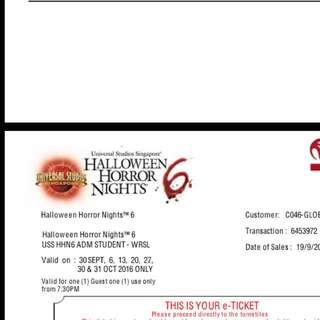 USS HHN ticket + Blood Mug Voucher
