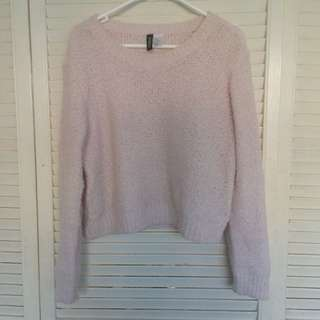 H&M pink knit sweater
