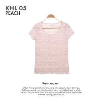 KOHLS - WOMAN TOPS BLOUSE PEACH AND RED