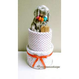 "2-Tier Simple ""Nursing Necklace"" Nappy Cake"