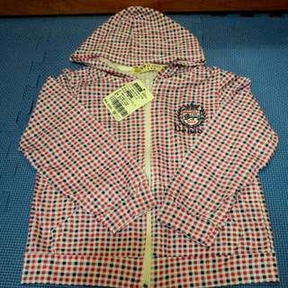 台灣製 紅白藍細格連帽小外套含運