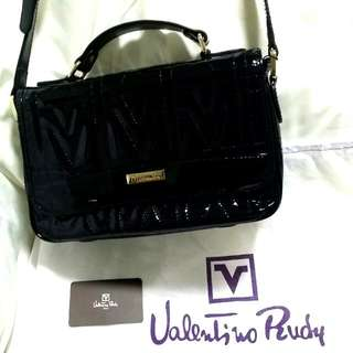 Valentino Ruby Quilted Patent Leather HB