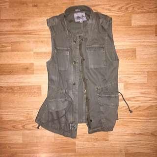 Army Green Adjustable Vest