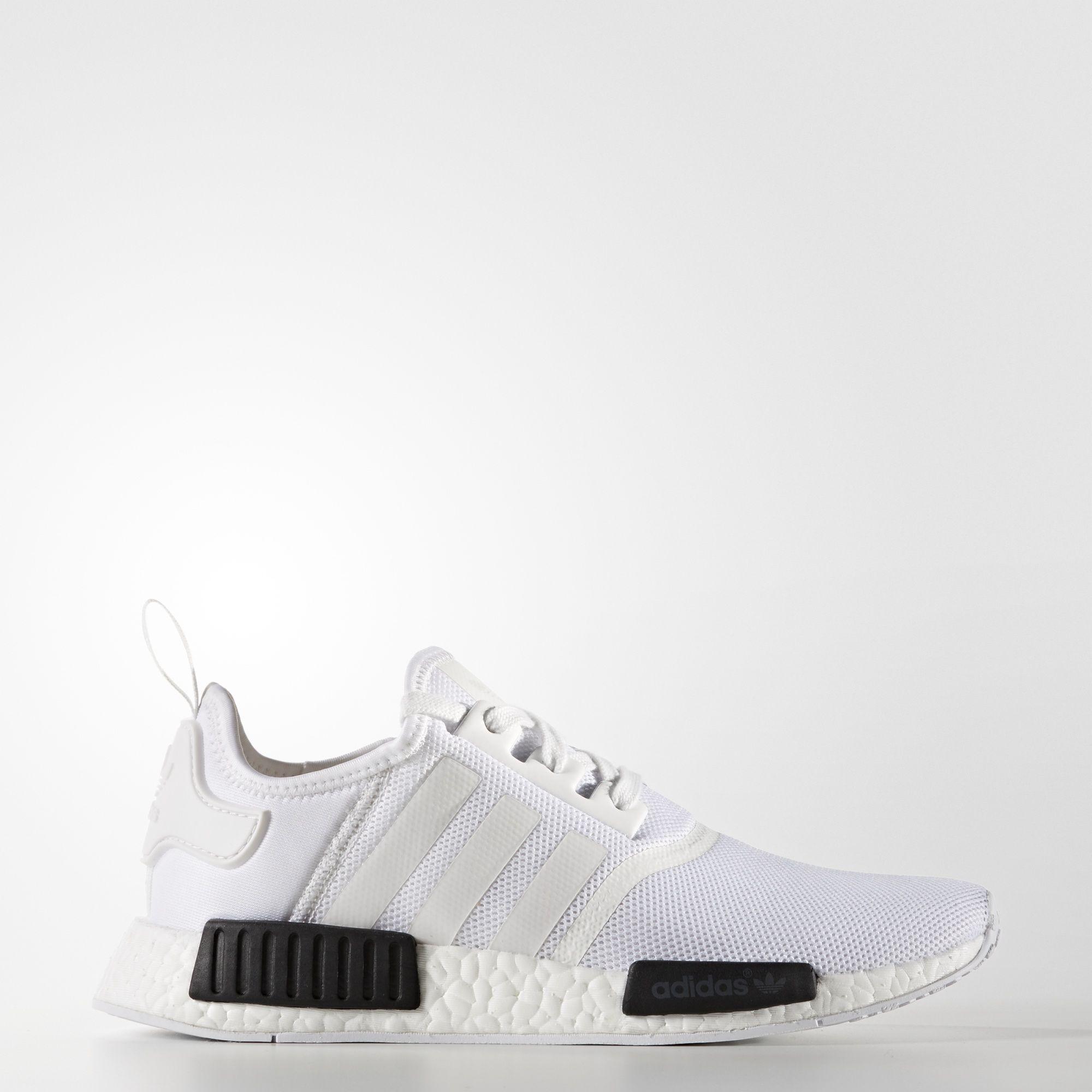 the latest 7e076 6adb5 shopping adidas nmd r1 white core black womens fashion shoes on carousell  8ac72 05273