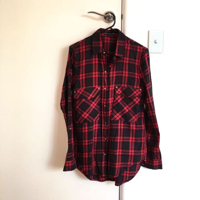 Brand New Red And Black Shirt