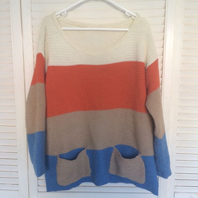Colourful oversized knit