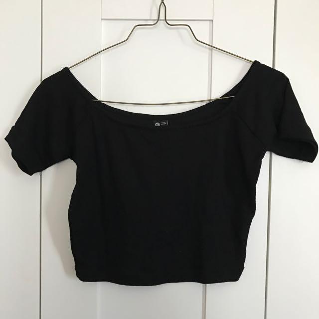 Cotton On Black Crop Top (Size XS)