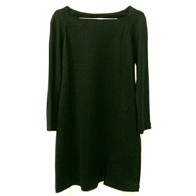 Dress Fitted Warna Hitam