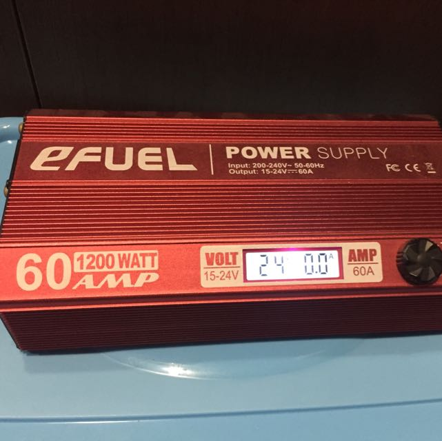 eFuel 1200W 24V 60A Power Supply for RC chargers