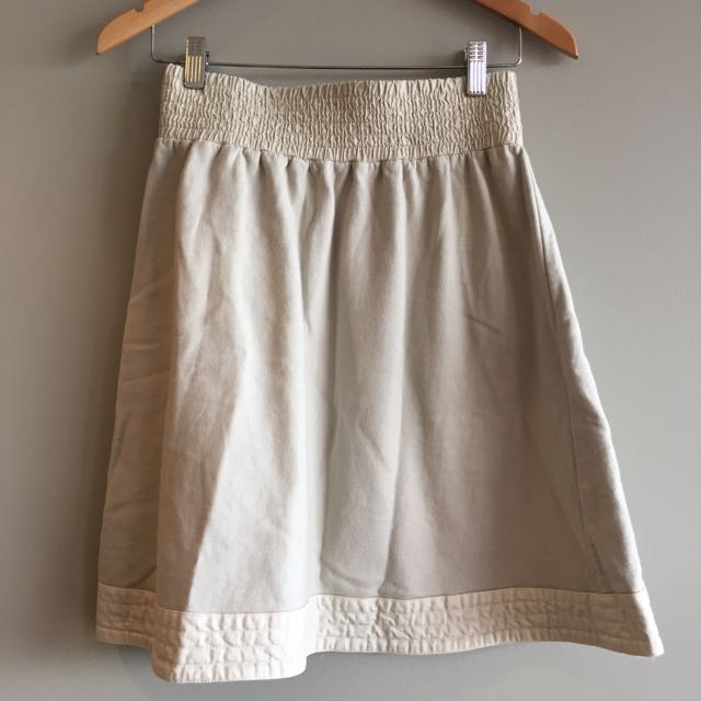 Gorman Skirt With Shirred Stretch Waist, Size small