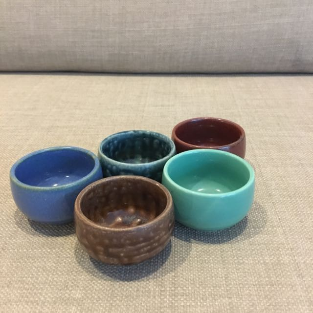 Hand painted Textured Tea Cups