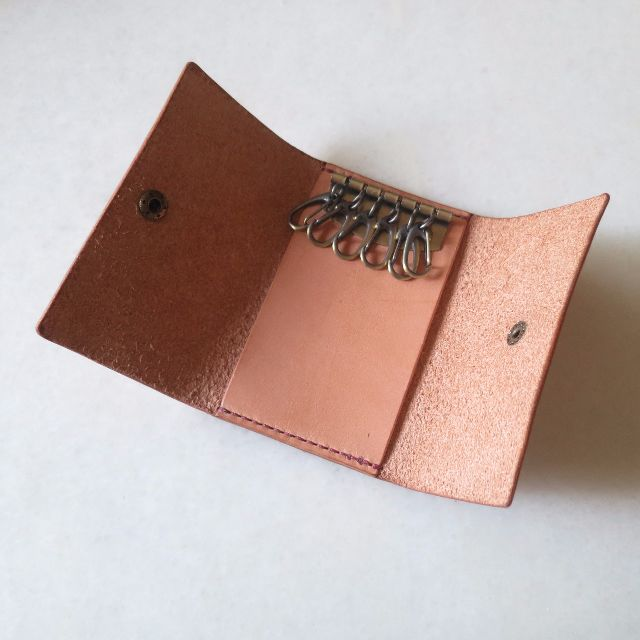 《Handmade   Handcrafted Leather Key Pouch》