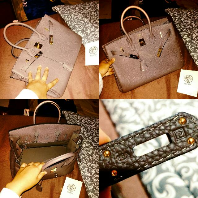 JUAL RUGI !!! Preloved HERMES Ori Leather 35cm Eutoupe