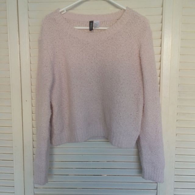 H&M pink knit sweater