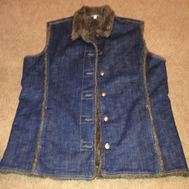 Jeans Warm Jacket (no sleeves)
