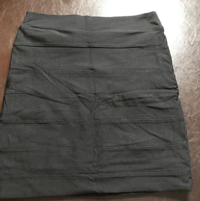 KOOKAI BLACK Bandage SKIRT SIZE 1