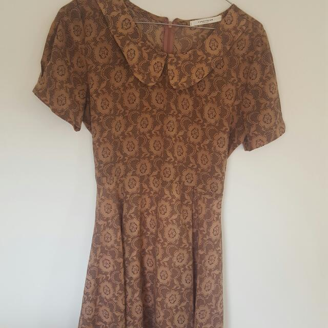 Lace Print Dress- Size Small