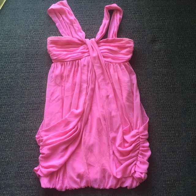 Ladies Lipsy Dress Pink Size 8