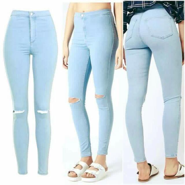 Light Denim HW Pants ❤