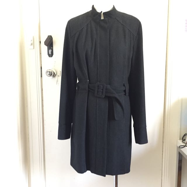 PILGRIM Black/Grey Coat Size 12 AUD$50