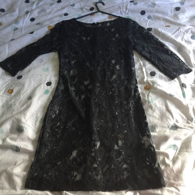 Portmans Lace Dress Shell - Size 8