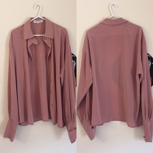 Sheer blouse/cardi