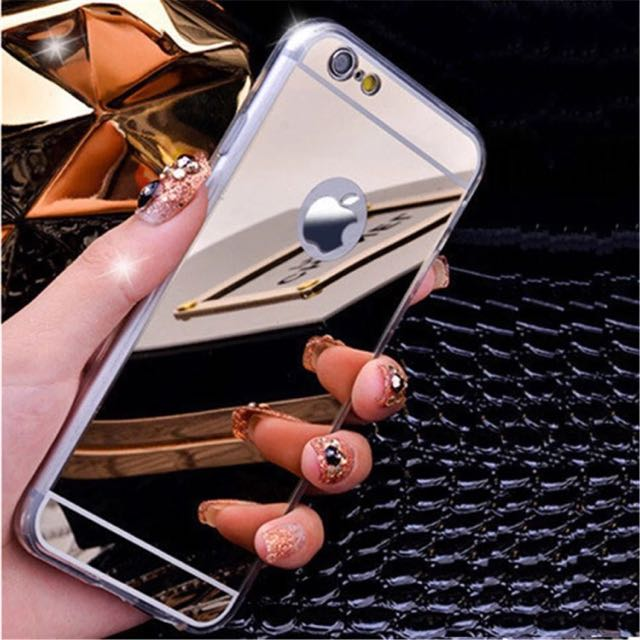 Silicone Silver Mirror Case for iPhone 6/6s/7