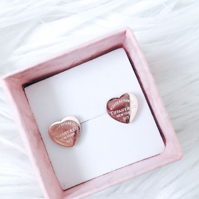 Tiffany And Co Rose Gold Earring Replica Luxury Accessories On Carou