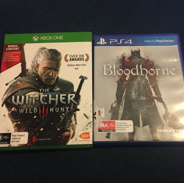Witcher 3 On Xbox One & 2 Copies Of Bloodborne On Ps4